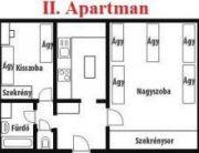 II-es apartman alaprajz