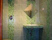 Hármas, kétszemélyes apartman fürdőszobája