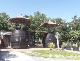 Egzotikus Kert 2+2 fős Óriáshordó bungaló